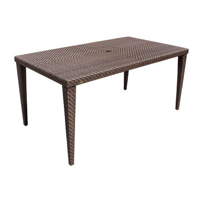 Soho Patio Small Rectangular Woven Dining Table Table Size: 78L x 40W