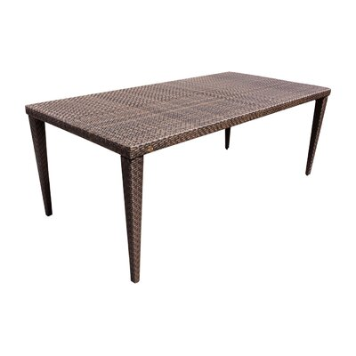 Soho Patio Small Rectangular Woven Dining Table Table Size: 78L x 36W