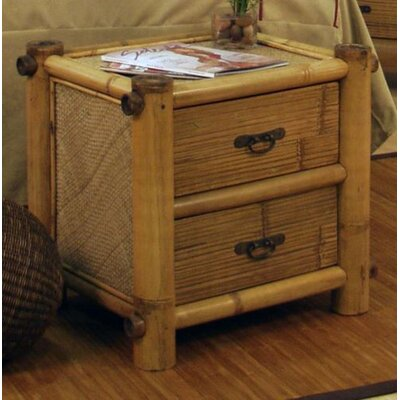Furniture financing Hawaii Bamboo 2 Drawer Nightstand...