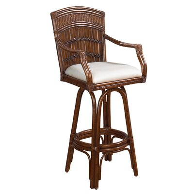 Easy financing Polynesian Indoor Swivel Bar Stool ...