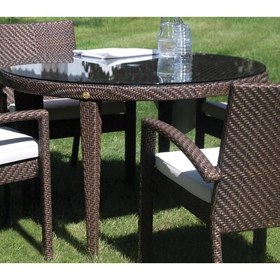 Soho Patio Woven Round Dining Table with Umbrella Hole