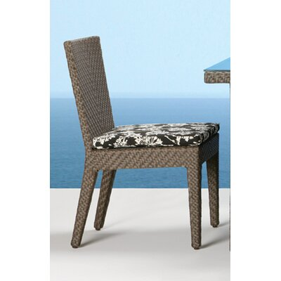 Hospitality Rattan Soho Patio Dining Side Chair (12 Pieces) - Color: Air Blue
