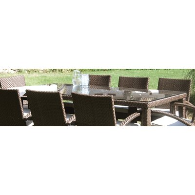 Hospitality Rattan Soho Patio Rectangular Dining Table Glass Top Only at Sears.com