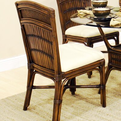 No credit check financing Polynesian Dining Side Chair with C...