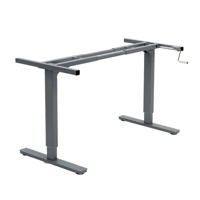 45 H x 64 W Desk Base Finish: Grey