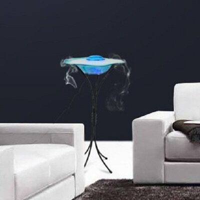 Glass/Metal Canary Table Top Mist Fountain/Aroma Diffuser with Inline Control and LED Light Finish: Blue FM102BL