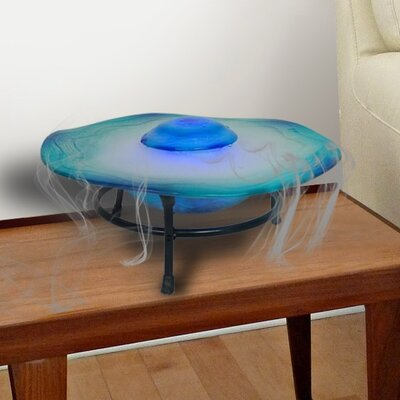 Glass/Metal Canary Table Top Mist Fountain/Aroma Diffuser with LED Light Finish: Blue TM114BL