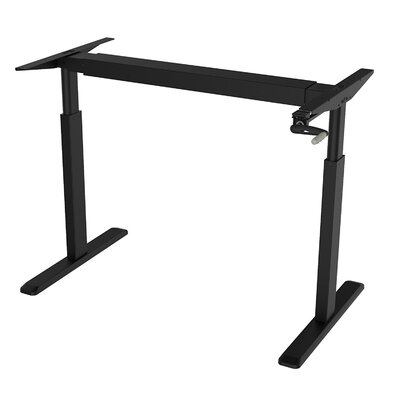 45 H x 64 W Desk Base Finish: Black