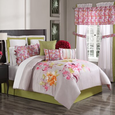 Soledad 10 Piece Comforter Set Size: Queen