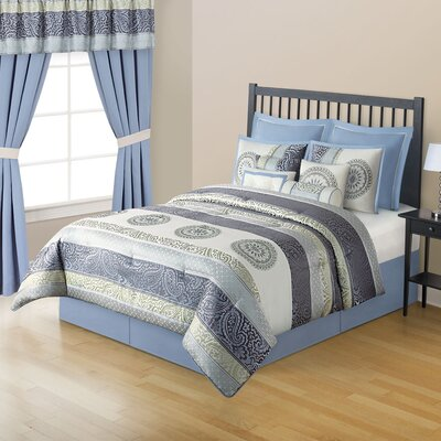 Trixie 10 Piece Comforter Set Size: Queen