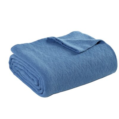 Outlast Merino Wool Blanket Size: Full, Color: Blue