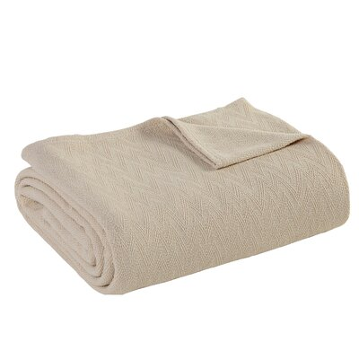 Outlast Merino Wool Blanket Size: Full, Color: Natural