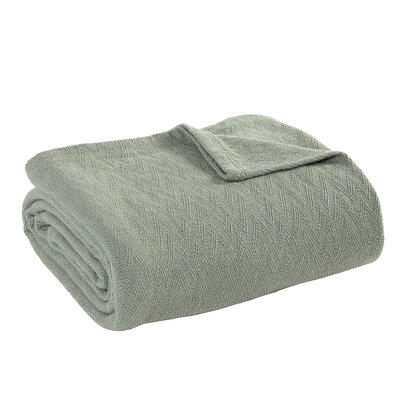 Outlast Merino Wool Blanket Size: King, Color: Prairie Green