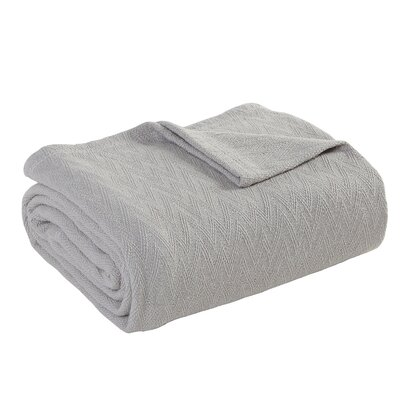 Outlast Merino Wool Blanket Size: Twin XL, Color: Silver Taupe