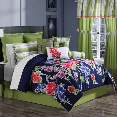 Nadia 10 Piece Comforter Set Size: Queen