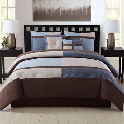 Nordland 5 Piece Comforter Set Size: Full/Queen, Color: Charcoal Blue