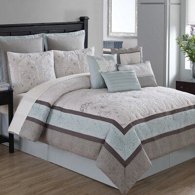 Studio Arianna 10 Piece Comforter Set Size: Queen
