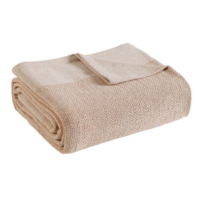 Allure Thermal Cotton Blanket Size: Twin, Color: Natural/Cream