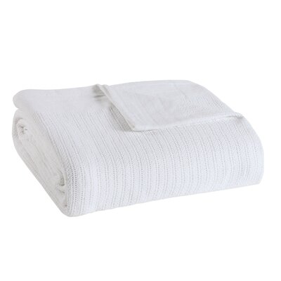 Allure Thermal Cotton Blanket Size: King, Color: Solid White