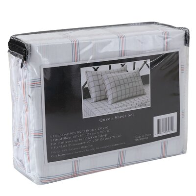Azores 4 Piece Sheet Set Size: Queen