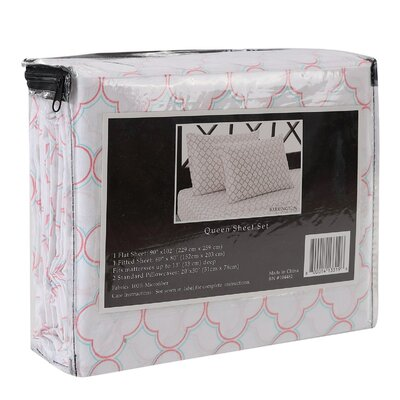 Barrington 4 Piece Sheet Set Size: Queen