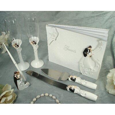 4 Piece Bride And Groom Design Bridal Accessory Set