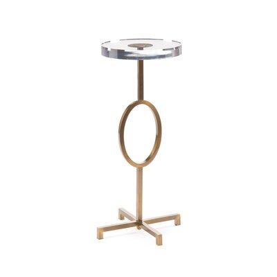 Martini End Table Size: 21 H x 10 W x 10 D
