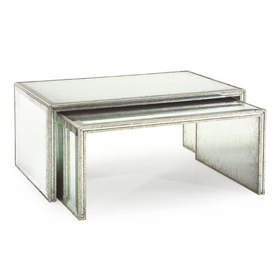 Eglomise 2 Piece Nesting Tables