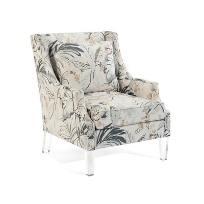 Scoop Arm Chair Upholstery: 2082 Fabric, Finish: Q05 Acrylic