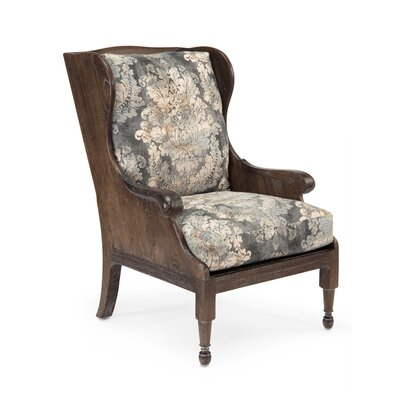 Scandinavian Wingback Chair Upholstery: 2049 Fabric, Finish: Cocoa