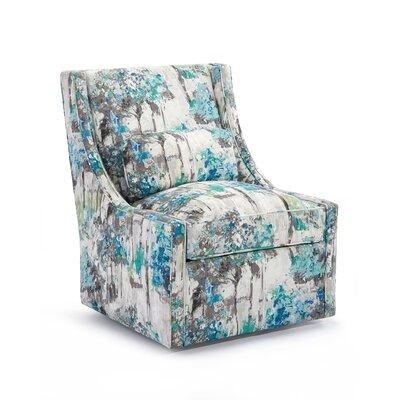 High Back Armless Swivel Club Chair Upholstery: 2048 Fabric