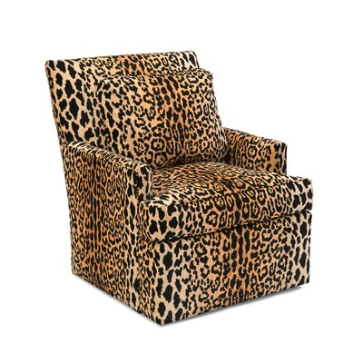Track Swivel Arm Chair Upholstery: B191 Fabric