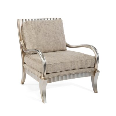 Phelps Arm Chair Upholstery: 1053 Fabric, Finish: V64 Transitional Silver