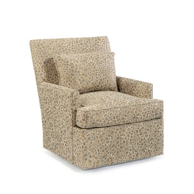 Track Swivel Arm Chair Upholstery: 2086 Fabric