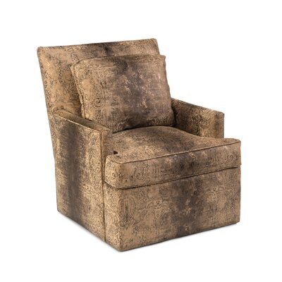 Track Swivel Arm Chair Upholstery: F554 Fabric