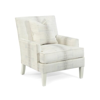 Track Arm Chair Upholstery: CBC6 Fabric, Finish: Q03 White Wood