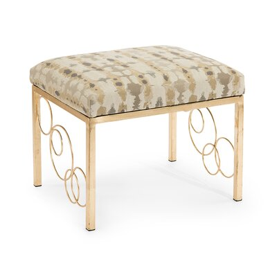 Halo Metal Ottoman Upholstery: 3003 Fabric