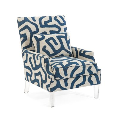 Scoop High Back Arm Chair Upholstery: 2083 Fabric
