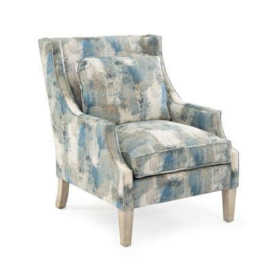 Scoop Arm Chair Upholstery: 1048 Fabric, Finish: Q04 Weathered Linen