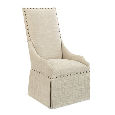 High Back Upholstered Dining Chair Upholstery: 1068 Fabric