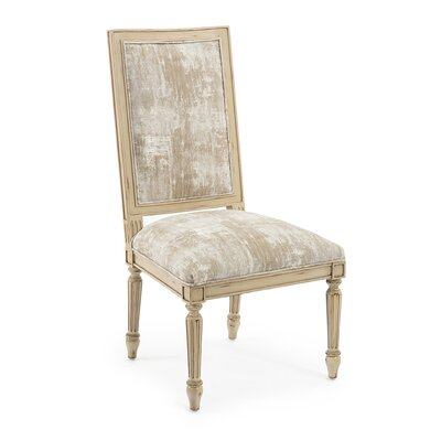 Upholstered Dining Chair (Set of 2) Upholstery: 2099 Fabric, Finish: Verona