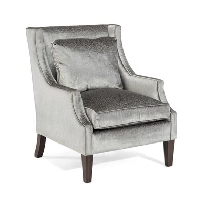 Scoop Arm Chair Upholstery: 2061 Fabric, Finish: Q01 Dark