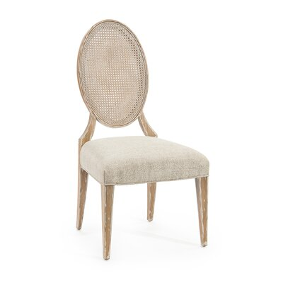 Oval-Back Cane Side Chair (Set of 2) Upholstery: 1066 Fabric