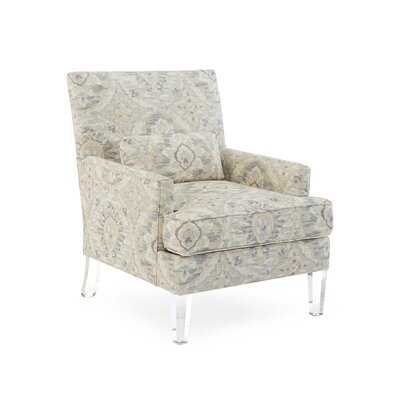 Track Arm Chair Upholstery: 2073 Fabric, Finish: Q05 Acrylic