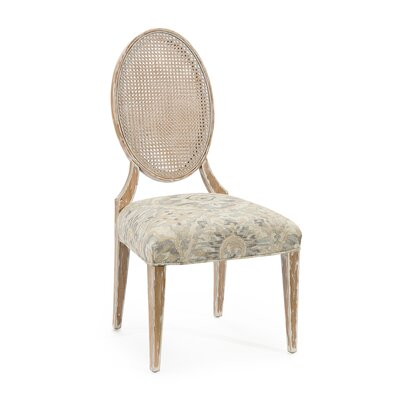 Oval-Back Cane Side Chair (Set of 2) Upholstery: 2073 Fabric