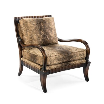 Phelps Arm Chair Upholstery: F554 Fabric, Finish: V18 Sable
