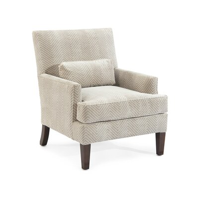 Track Arm Chair Upholstery: 2081 Fabric, Finish: Q01 Dark Wood