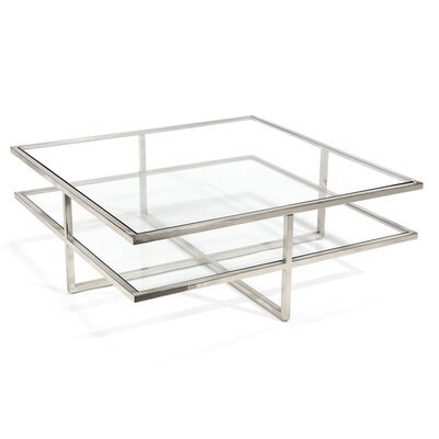 Coffee Table Table Base Color: Polished Steel