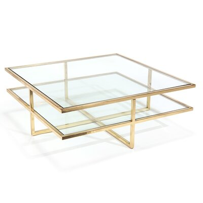 Coffee Table Table Base Color: Polished Brass