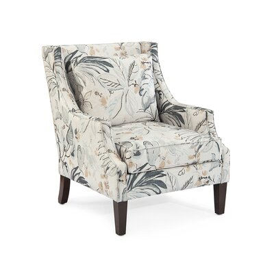 Scoop Arm Chair Upholstery: 2082 Fabric, Finish: Q01 Dark Wood